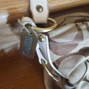 Coach Bags - Coach-Authentic Brown with White Leather Straps